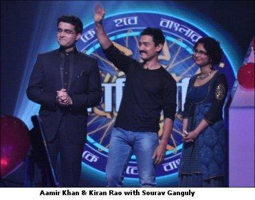 Sourav with Amir & Kiran