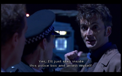 "The Tenth Doctor in ""Planet of the Dead"""