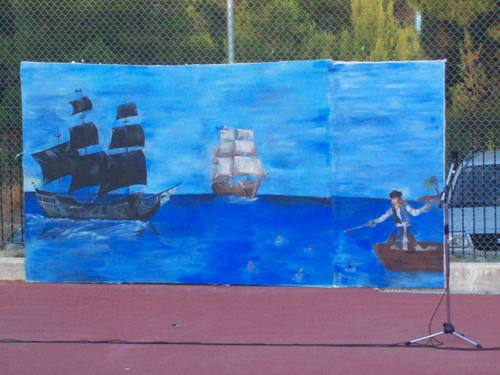 The end-of-the-year-party of our school (this artwork is painted from our teacher)