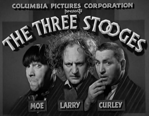 Three Stooges karatasi la kupamba ukuta possibly containing anime called Three Stooges