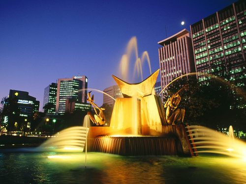 Victoria Square Fountain - Adelaide - australia Wallpaper