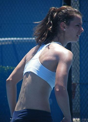 Tsvetana Pironkova during Skimpy Practice