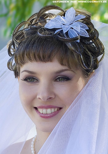 Прическа невесте на короткие волосы фото