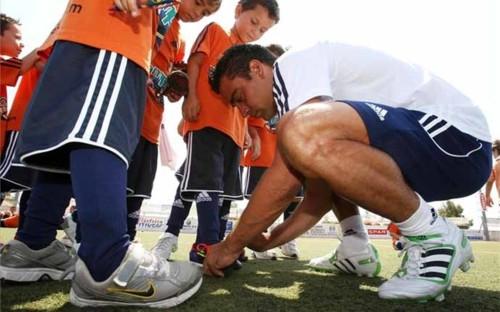 Xavi Hernandez at his camp in Ibiza