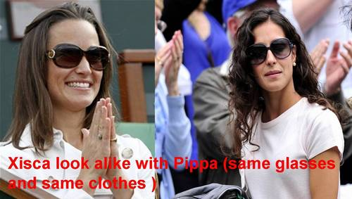 Xisca shows as copy the royal style at Wimbledon !!!