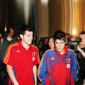 Young David Villa and Iker Casillas