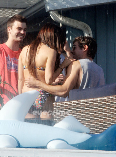 Zac & Ashley hugging and kissing in Malibu, July 2