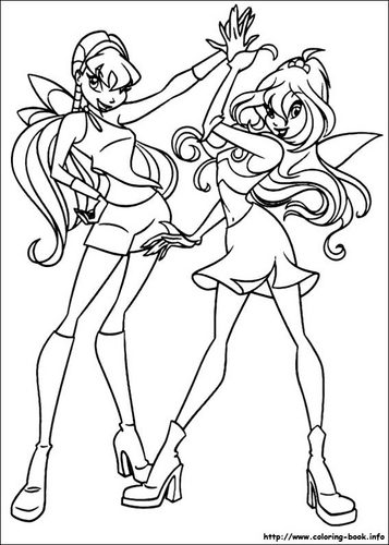 Winx Club Hintergrund probably containing Anime titled colouring pages