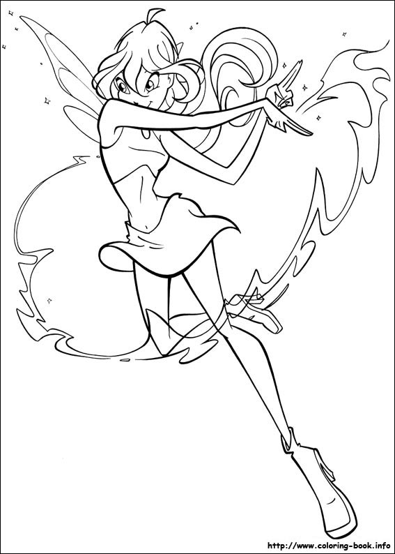 The Winx Club Images Colouring Pages HD Wallpaper And Background Photos