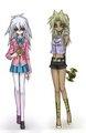 girl Marik and Ryou Bakura