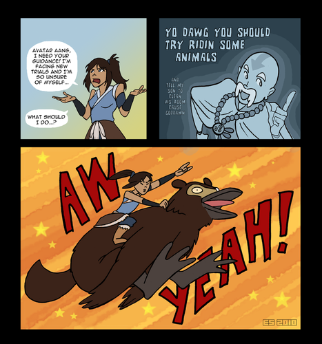 korra and aang - avatar-the-legend-of-korra Fan Art