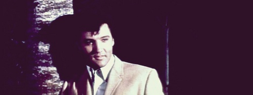 Elvis Presley Hintergrund with a business suit called ~CLAMBAKE~