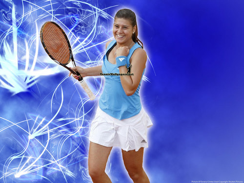 Sorana Cirstea in Blue Wave