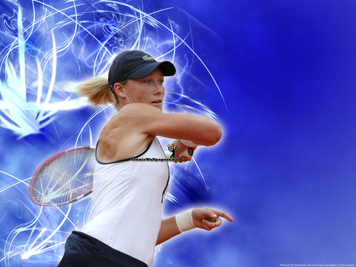 Samantha Stosur in Blue Wave