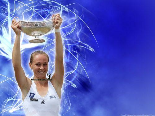 Magdalena Rybarikova in Blue Wave