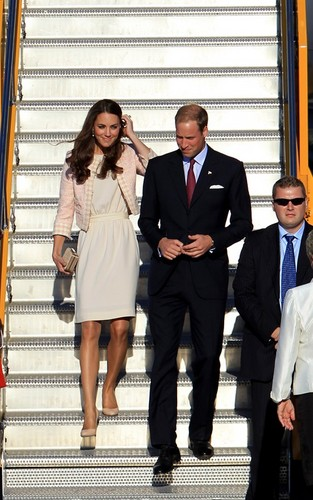 Prince William and Kate Middleton arriving at Charlottetown Airport in Prince Edward Island.
