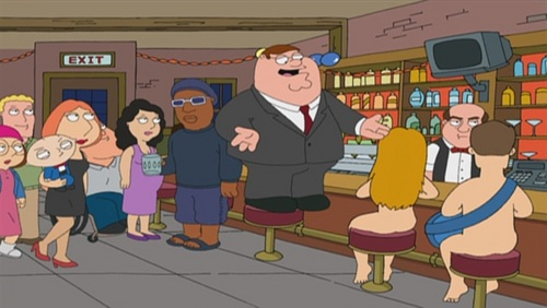 Family Guy kertas dinding probably with a sign and Anime called 'Stewie Griffin: The Untold Story'
