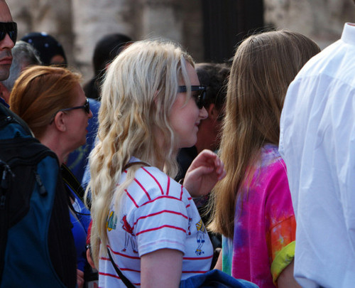Evanna Lynch fondo de pantalla probably with sunglasses entitled Walking Around Rome Candids: July 2, 2011