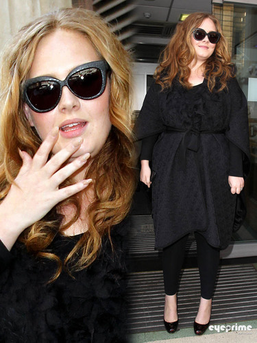 adele visits BBC Radio in London, July 5