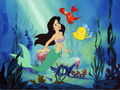 Ariel - Black hair - the-little-mermaid wallpaper