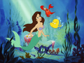 Ariel - Dark brown hair - the-little-mermaid wallpaper