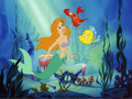 Ariel - Reddish blonde hair - the-little-mermaid wallpaper