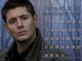 August 2011 - Dean (calendar) - dean-winchester wallpaper