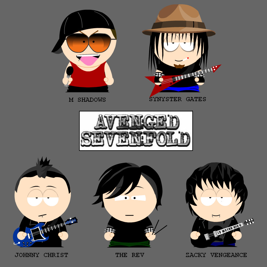 South Park Avenged Sevenfold in South Park form