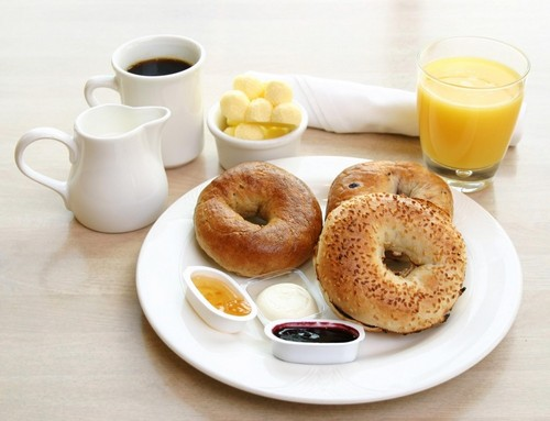 Delicious Recipes wallpaper containing a bagel, an onion bagel, and a pretzel called Breakfast