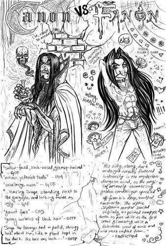 Canon Snape vs. Fanon Snape