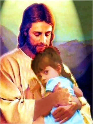Caylee in Jesus's arms