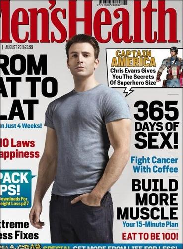 Chris Evans - Men's Health Magazine (August)