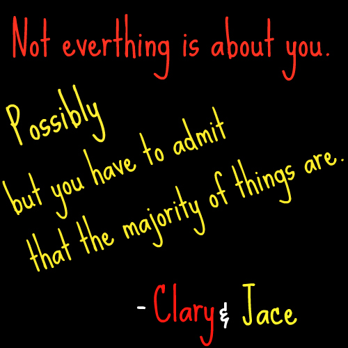 Mortal Instruments wallpaper possibly with a sign entitled Clary and Jace
