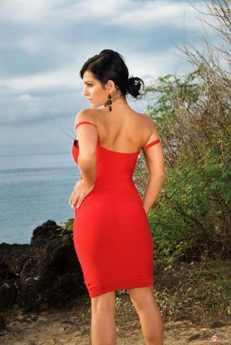 Denise Milani - Red Dress