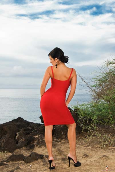 denise milani in a dress - photo #44