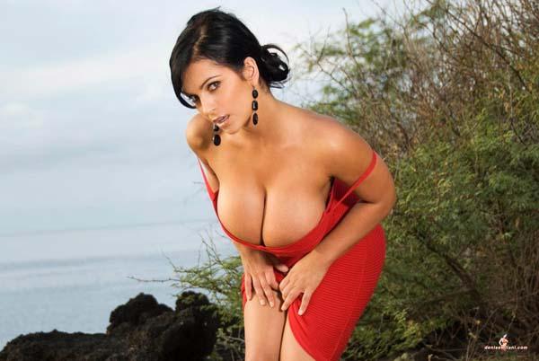 Denise Milani - Red Dress