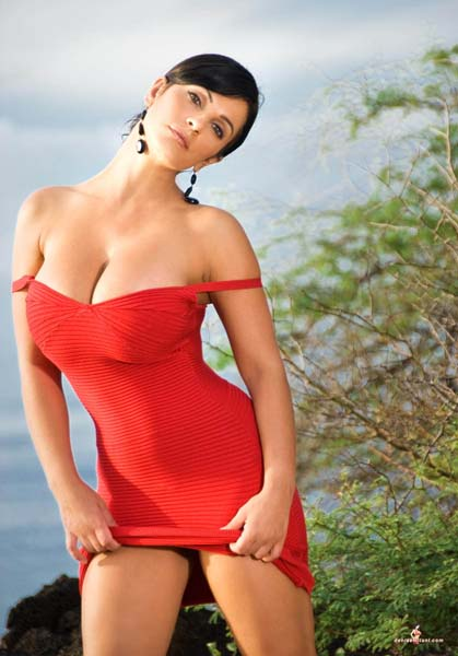 denise milani in a dress - photo #13
