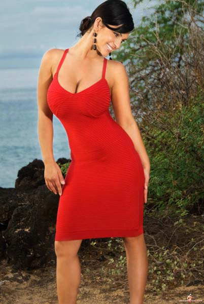 denise milani in a dress - photo #23