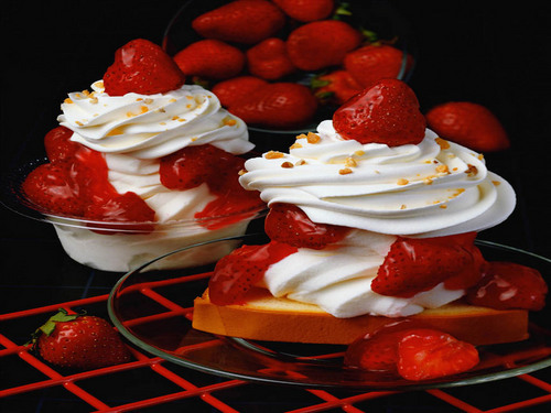 Delicious Recipes wallpaper with a strawberry, a virginia strawberry, and a beach strawberry called Dessert