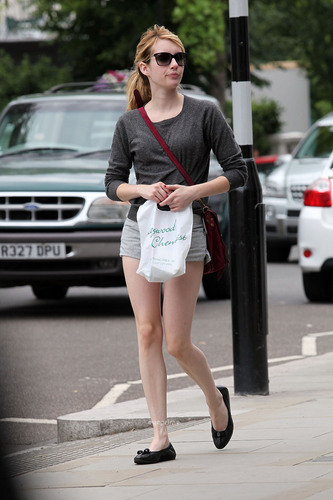 Emma Roberts spotted out in Notting Hill, London, July 5.