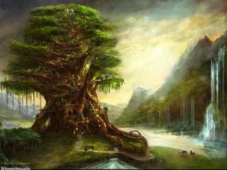 fantasy Elven albero