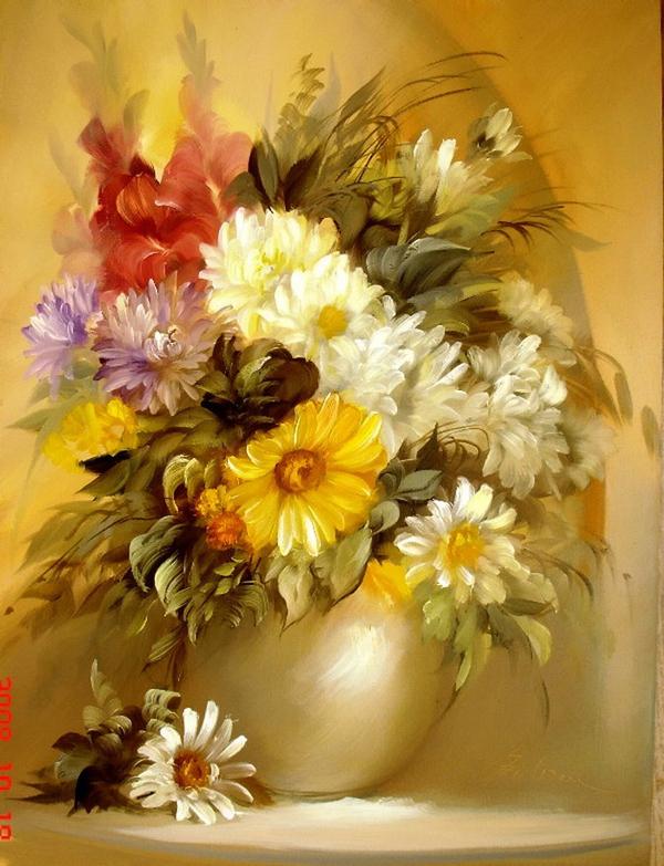 Floral paintings beautiful images fan art 23468425 - Floreros modernos ...