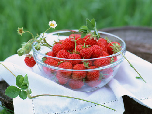 Delicious Recipes দেওয়ালপত্র with a virginia strawberry, a strawberry, and a সৈকত স্ট্রবেরি titled Fruits