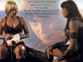 Gabrielle & Xena. Ties of Love - xena-and-gabrielle wallpaper