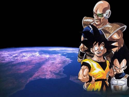Goku, Vegeta and Nappa