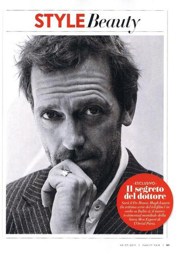 Hugh Laurie- Magazine Vanity Fair Italia, July 2011 (scans)