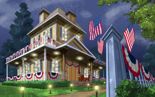 United States Of America wallpaper with a hip roof and a school called Independence Day