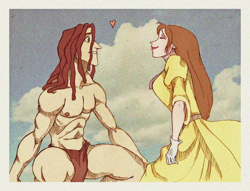 Jane and Tarzan shabiki art