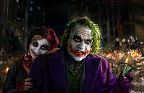 Joker and Harley Painting