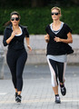 June 26: Jogging with Kim Kardashian in Battery Park - heidi-klum photo